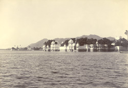 The Jagmandir (water-palace), Udaipur. From the east